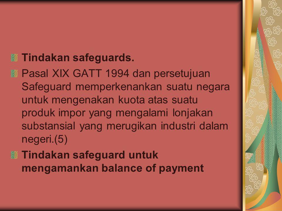 Tindakan safeguards.