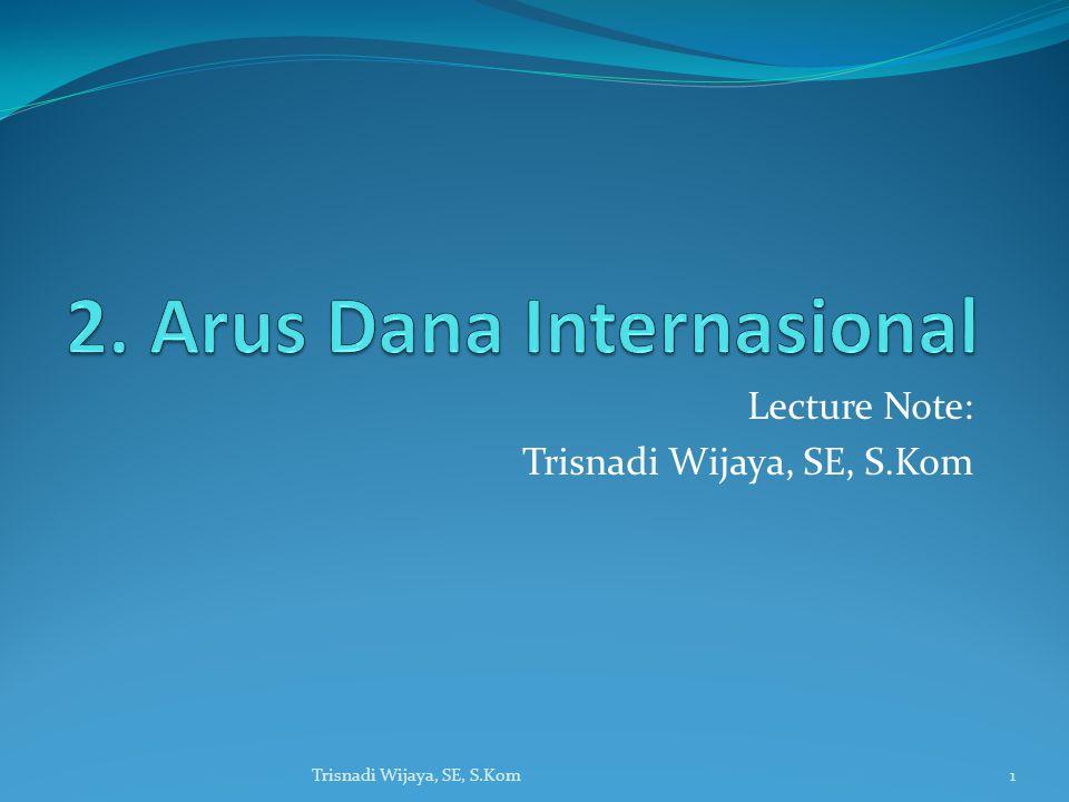 Lecture Note: Trisnadi Wijaya, SE, S.Kom 1