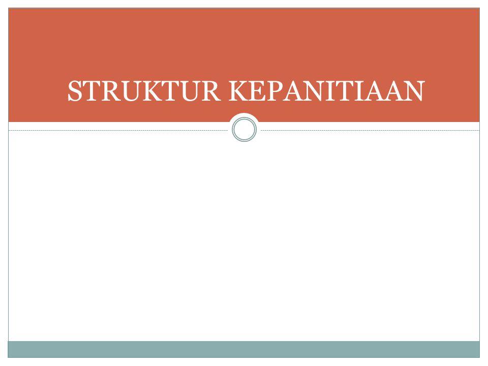 Struktur Kepanitiaan Indonesia Mengajar External Relations Rekrutmen Volunteer Relations Acara Media & Dokumentasi Susunan kepanitiaan minimal terdiri dari 5 fungsi utama, yaitu external relations, rekrutmen, volunteer relations, acara dan media-dokumentasi.