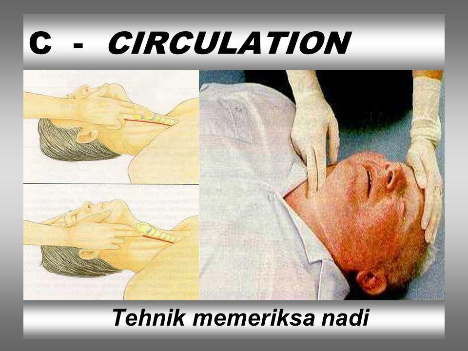 C - CIRCULATION Tehnik memeriksa nadi