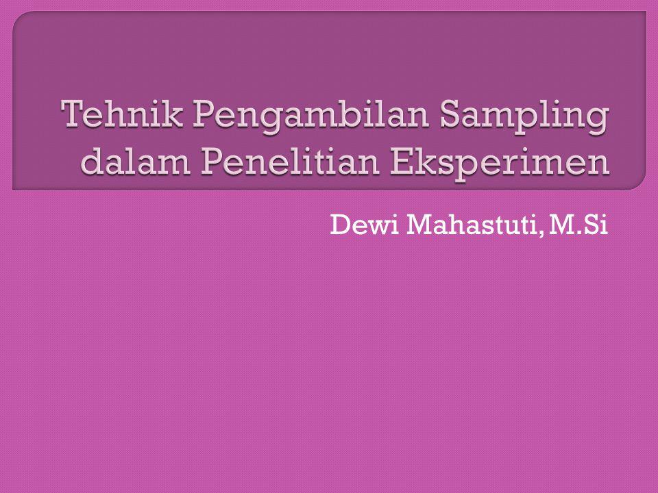 Dewi Mahastuti, M.Si