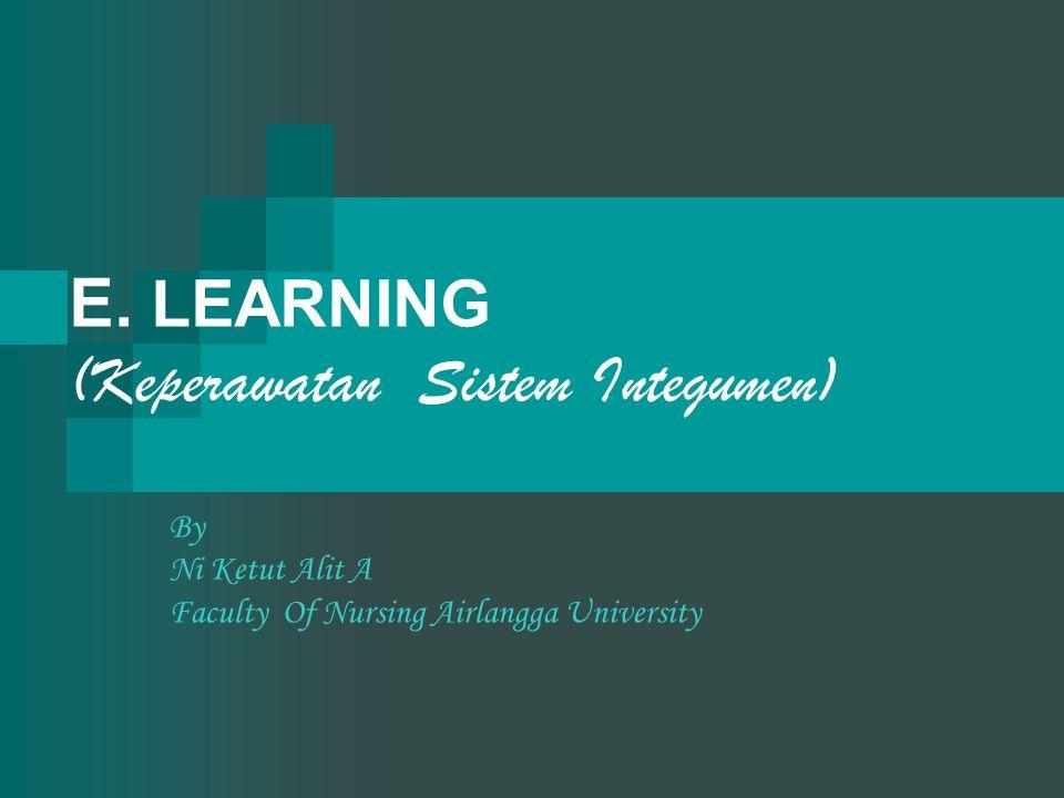 E. LEARNING (Keperawatan Sistem Integumen) By Ni Ketut Alit A Faculty Of Nursing Airlangga University