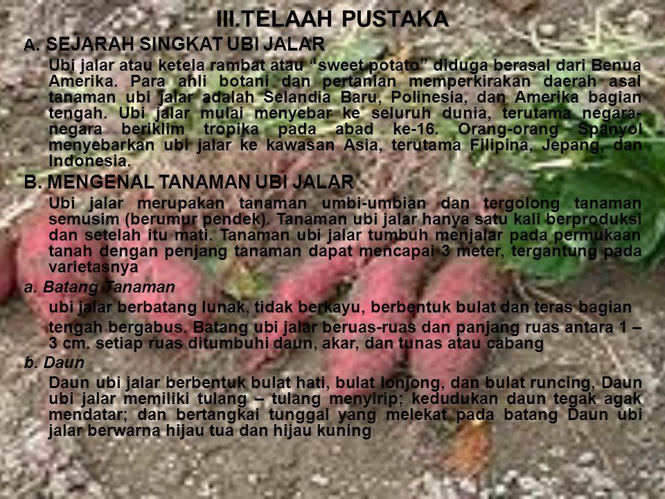III.TELAAH PUSTAKA A.