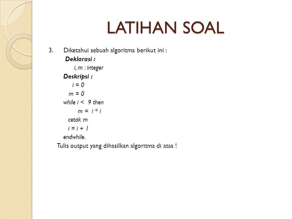 LATIHAN SOAL 3.