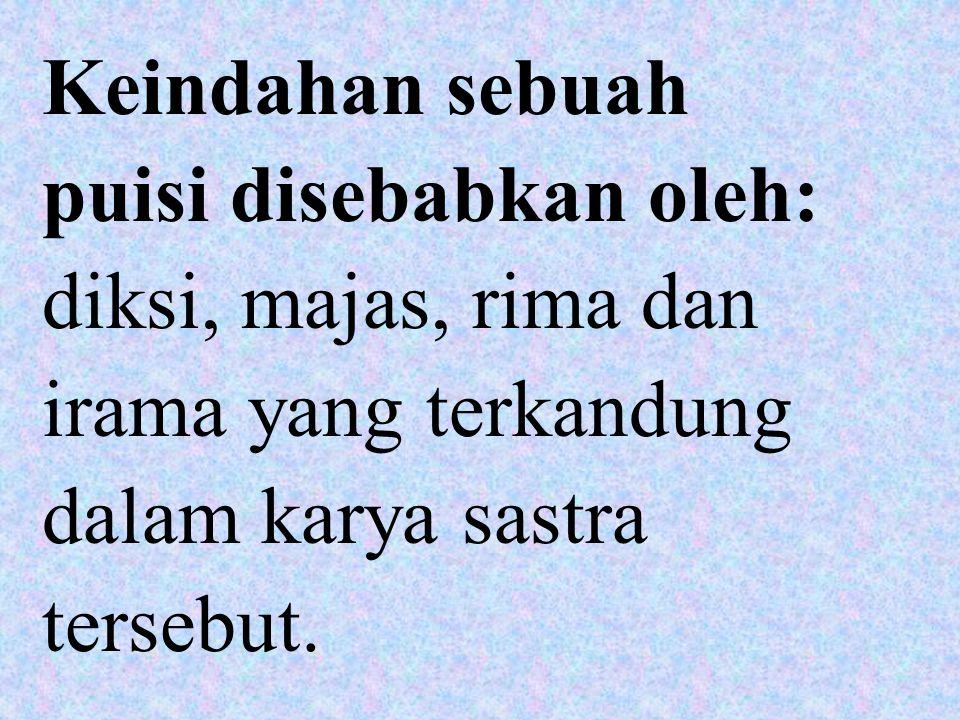 2. Puisi Larik: