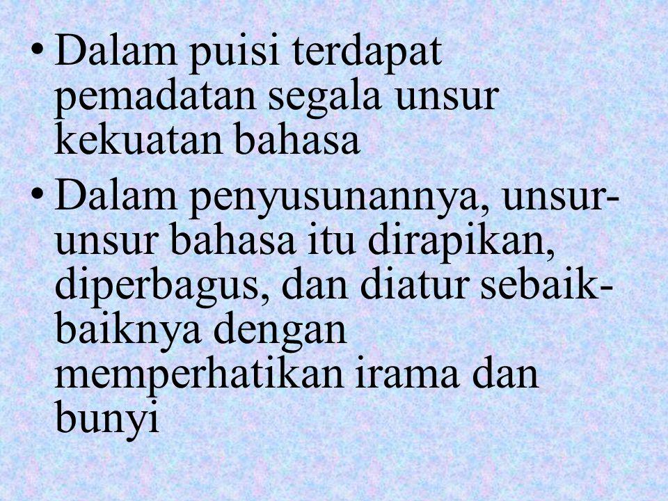 a. Tema (sense) dan amanat (intention)