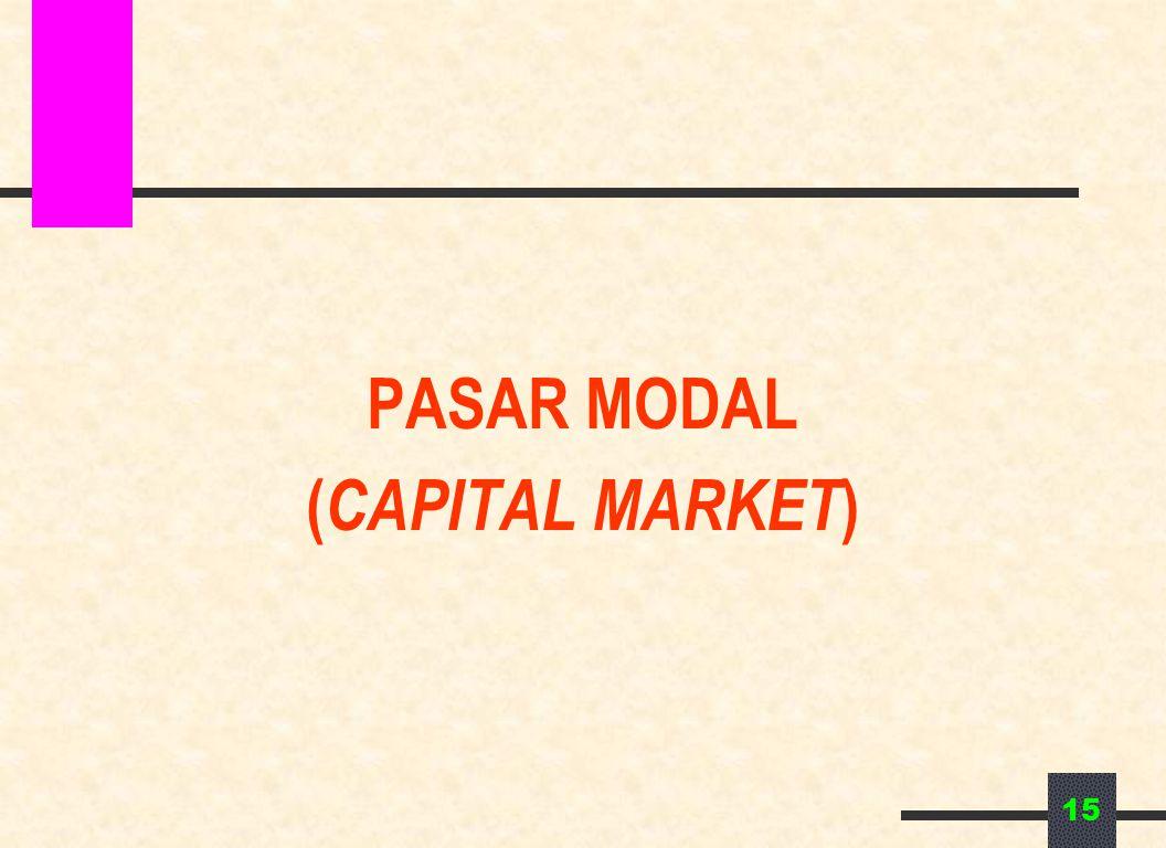 15 PASAR MODAL ( CAPITAL MARKET )