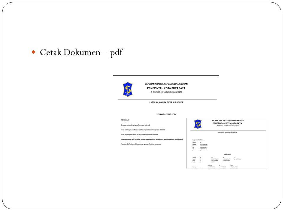 Cetak Dokumen – pdf