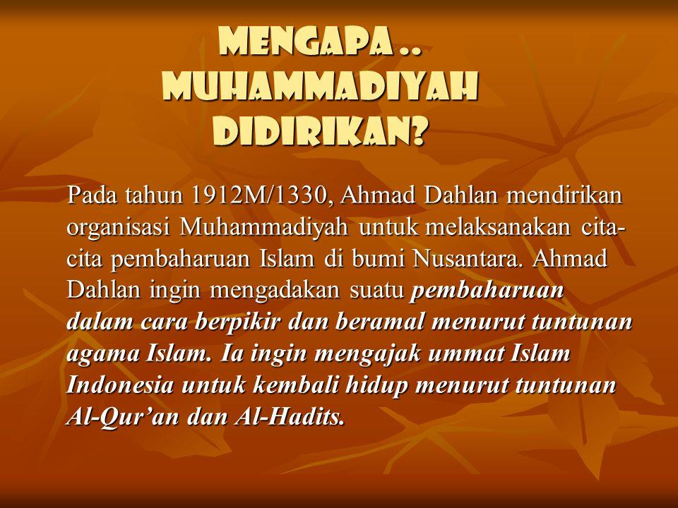 Mengapa.. Muhammadiyah didirikan.
