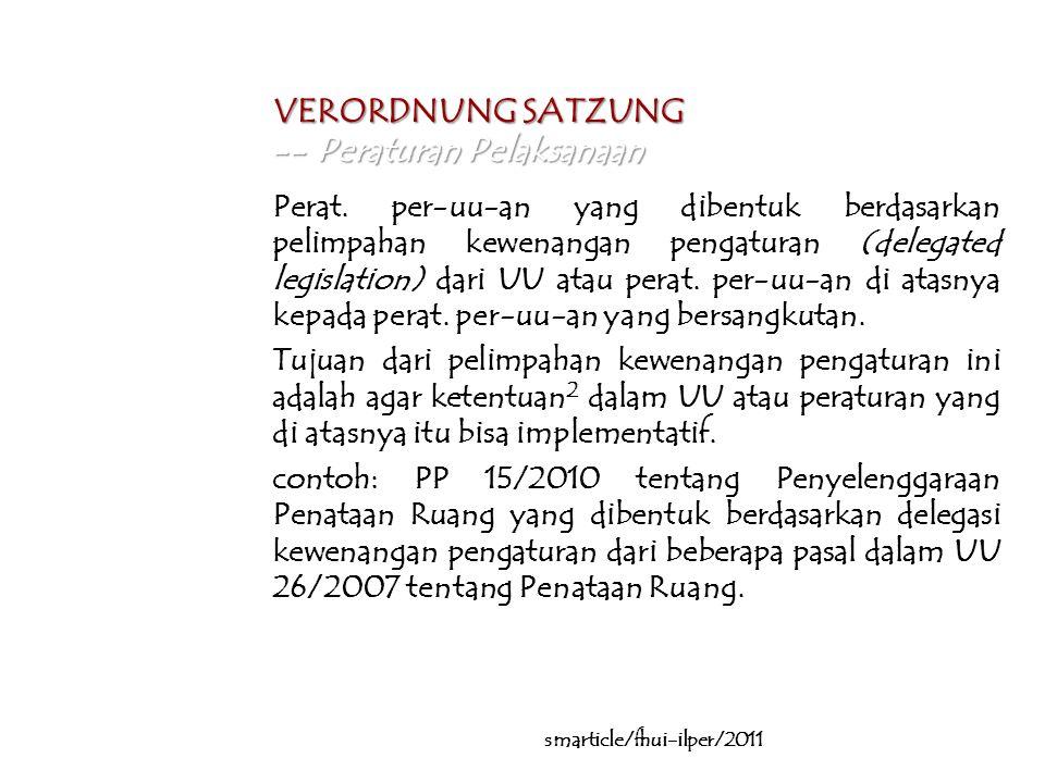 … VERORDNUNG SATZUNG -- Peraturan Pelaksanaan Perat.