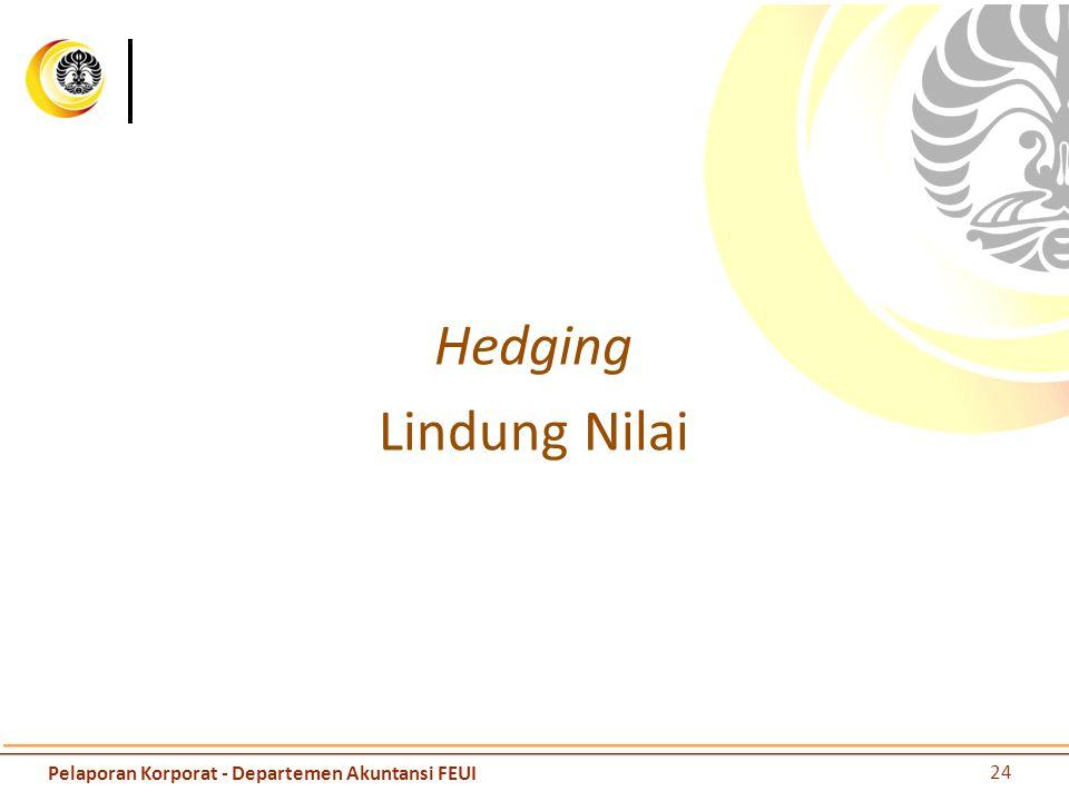 Hedging Lindung Nilai 24 Pelaporan Korporat - Departemen Akuntansi FEUI