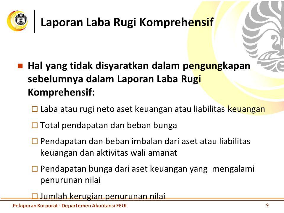 Laporan Laba Rugi Komprehensif Hal yang tidak disyaratkan dalam pengungkapan sebelumnya dalam Laporan Laba Rugi Komprehensif:  Laba atau rugi neto as
