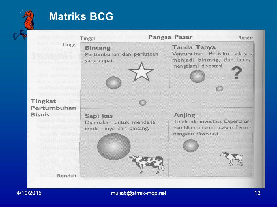4/10/2015muliati@stmik-mdp.net13 Matriks BCG