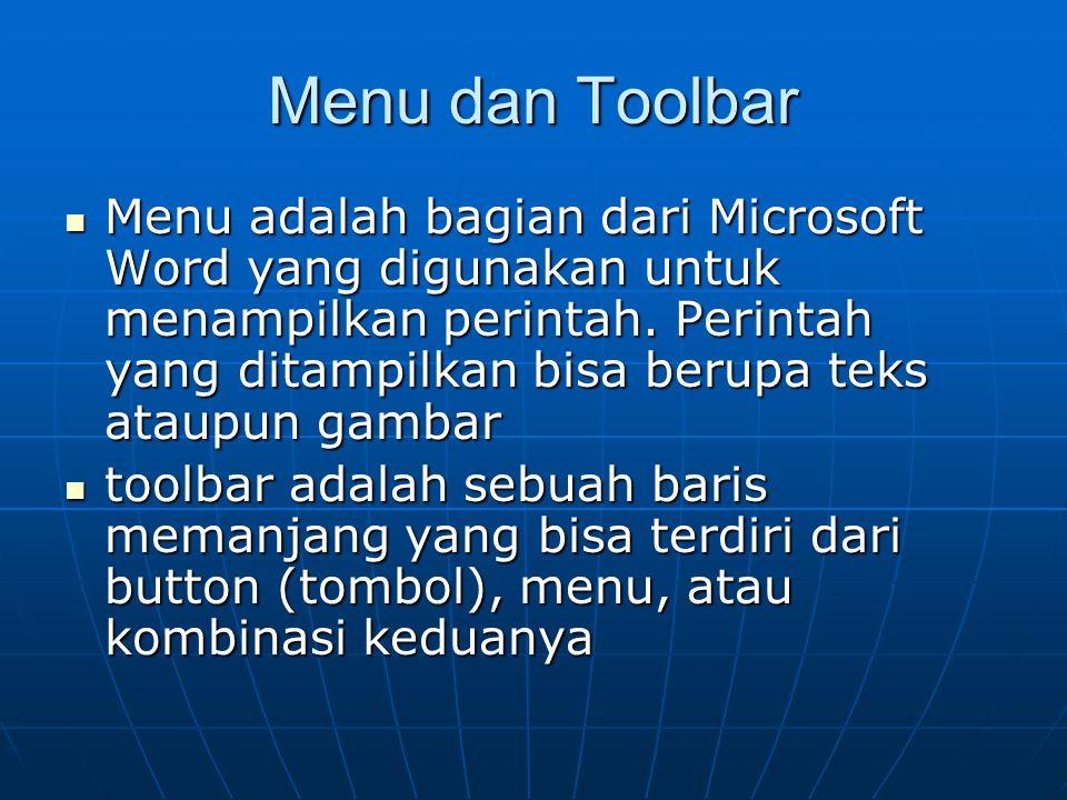 KEGIATAN BELAJAR 2 Materi yang diajarkan meliputi Materi yang diajarkan meliputi  Menu dan Toolbar  Keyboard Shortcut  Operasi Dasar Membuat Dokume