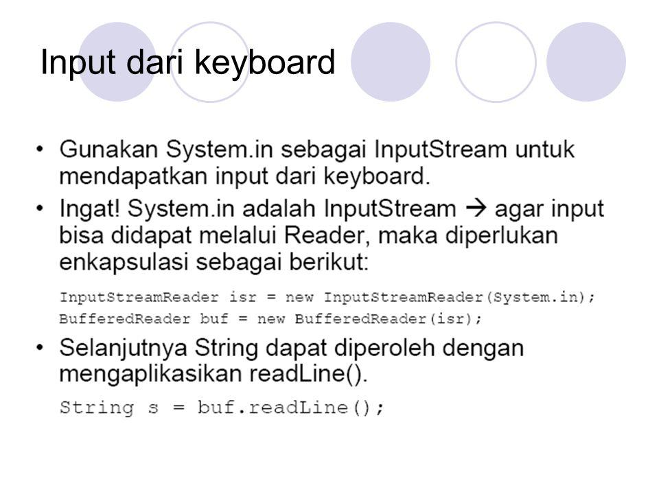 Input dari keyboard