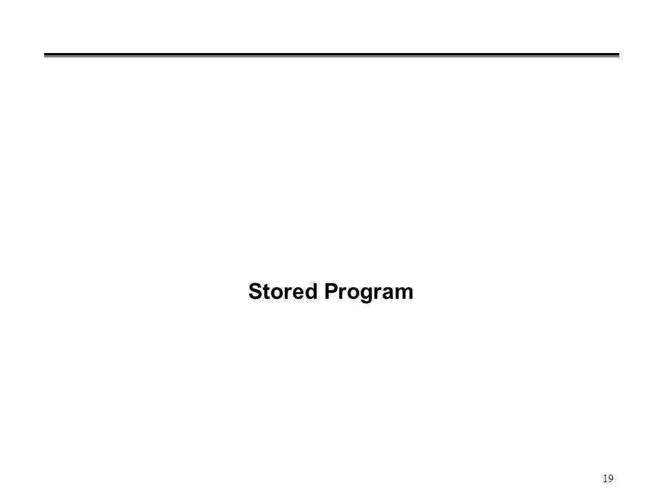 19 Stored Program