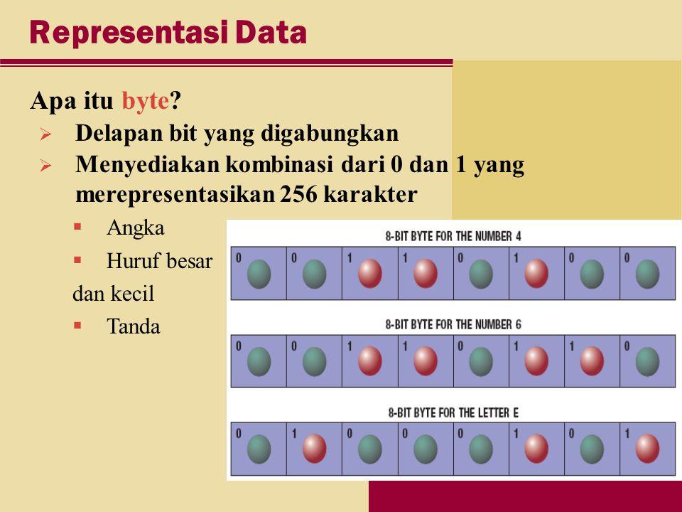 Representasi Data Apa itu byte.