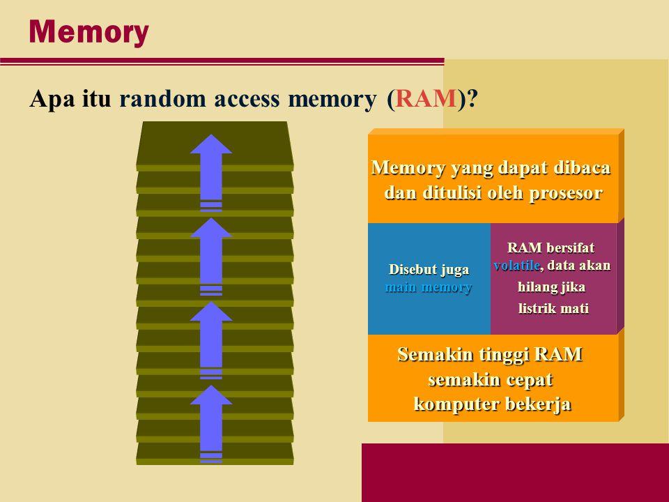 Memory Apa itu random access memory (RAM).