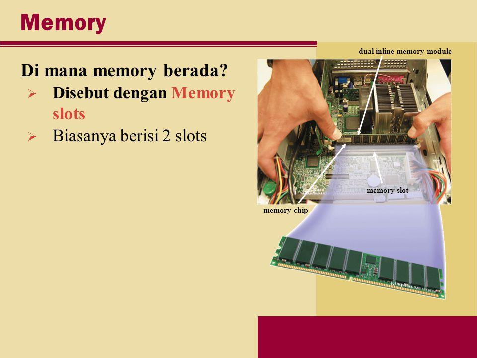 Memory Di mana memory berada.