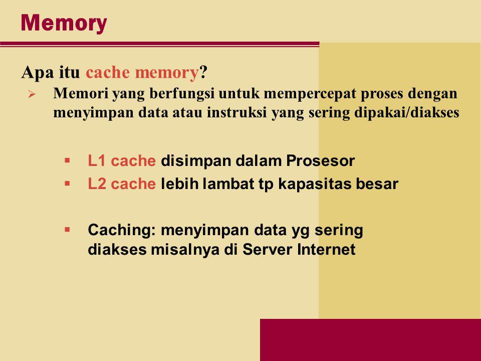 Memory Apa itu cache memory.