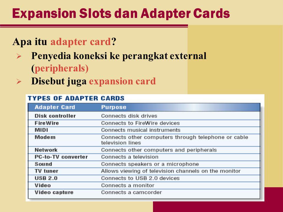 Expansion Slots dan Adapter Cards Apa itu adapter card.