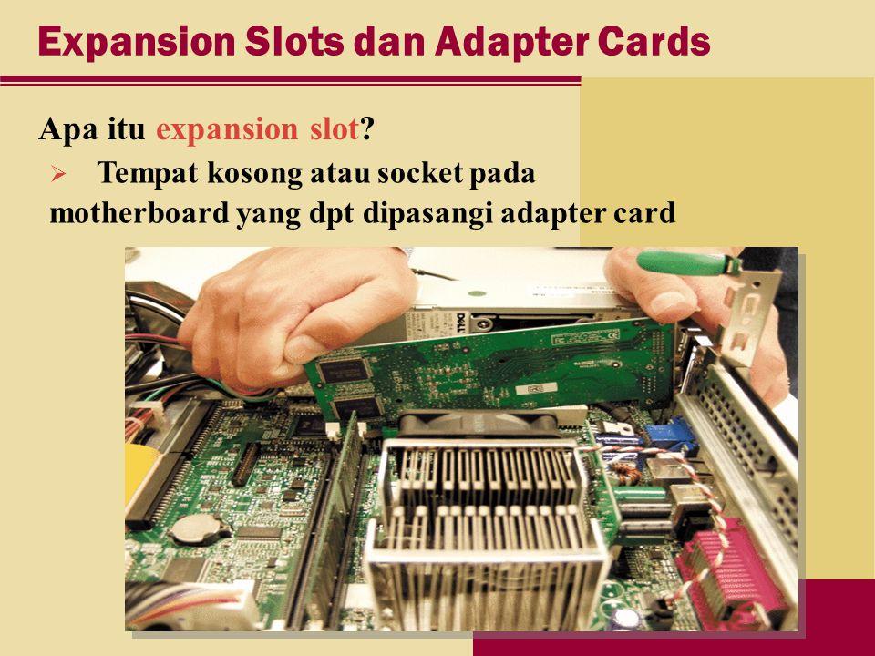 Expansion Slots dan Adapter Cards Apa itu expansion slot.