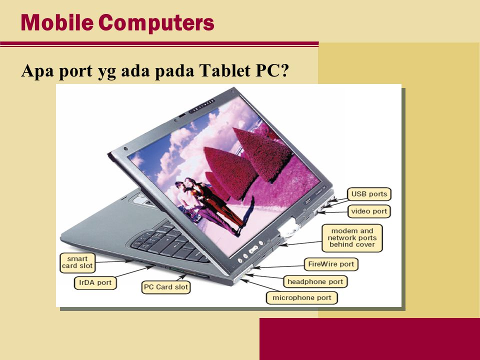 Mobile Computers Apa port yg ada pada Tablet PC