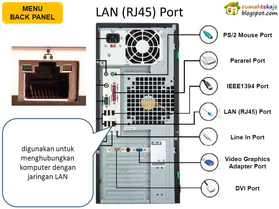 LAN (RJ45) Port AC Power Plug PS/2 Keyboard Port S/PDIF Out Port Serial Port USB Port Microphone Port Line In Port PS/2 Mouse PortPararel Port IEEE139