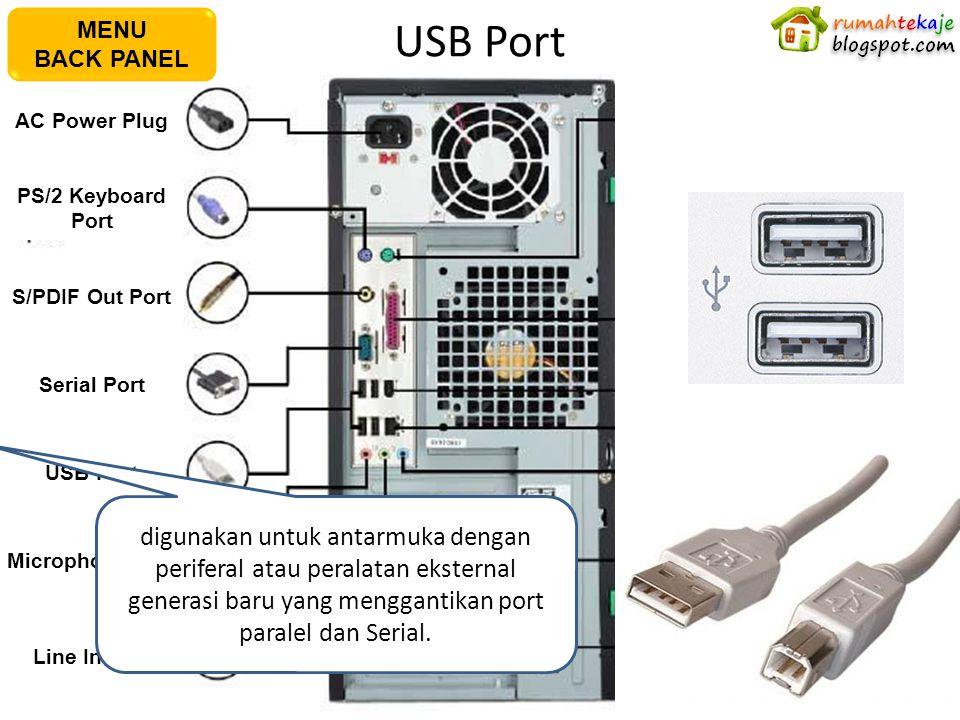 USB Port AC Power Plug PS/2 Keyboard Port S/PDIF Out Port Serial Port USB Port Microphone Port Line In Port PS/2 Mouse PortPararel Port IEEE1394 Port