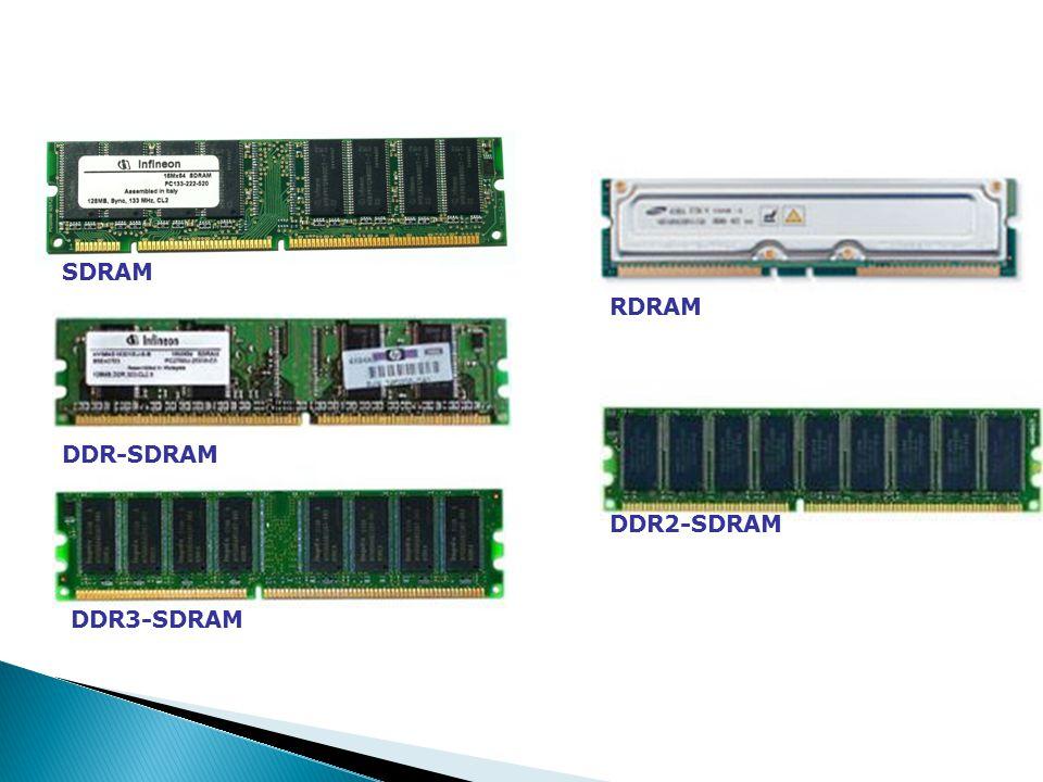 SDRAM DDR-SDRAM RDRAM DDR2-SDRAM DDR3-SDRAM