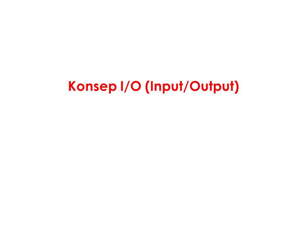 Konsep I/O (Input/Output)