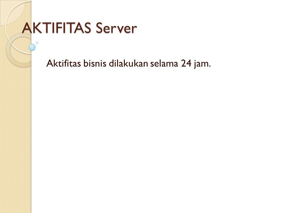 AKTIFITAS Server Aktifitas bisnis dilakukan selama 24 jam.