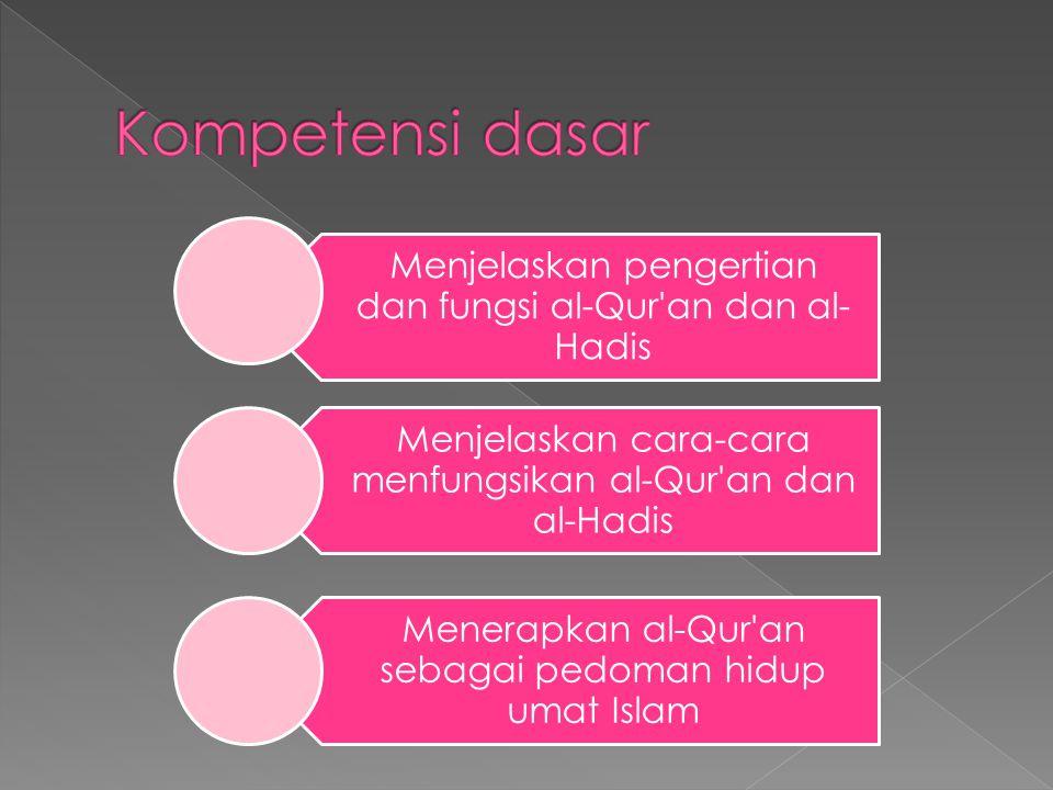 Memahami al-Qur'an Hadis sebagai pedoman hidup