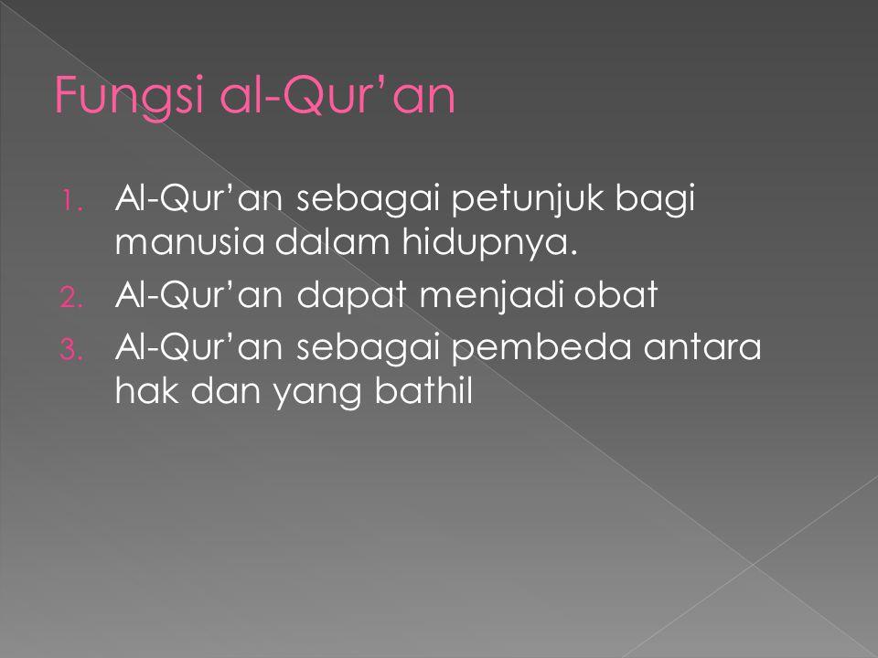 Pengertian al-qur'an adalah Al-Qur'an adalah kalam (firman) Allah kembali Ta'ala, baik huruf maupun maknanya, dia bukan makhluk. Dari Allah al-Qur'an
