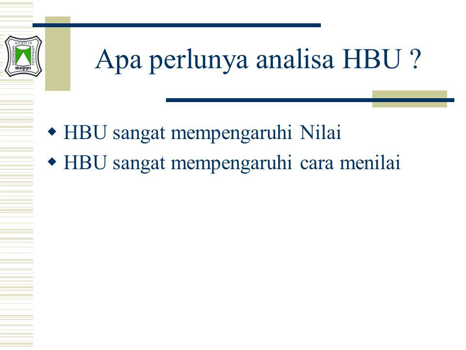  HBU sangat mempengaruhi Nilai  HBU sangat mempengaruhi cara menilai