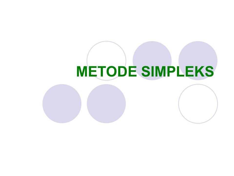 METODE SIMPLEKS