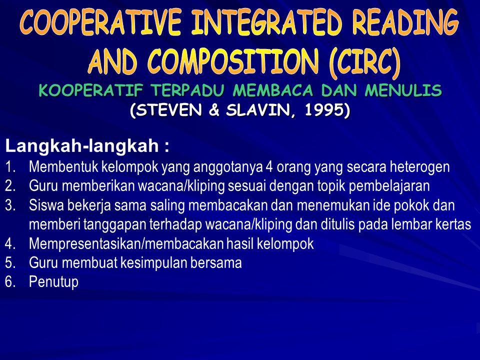 (PENGAJARAN LANGSUNG) (ROSENSHINA & STEVENS, 1986) Langkah-langkah : 1.Menyampaikan tujuan dan mempersiapkan siswa 2.Mendemonstrasikan pengetahuan dan