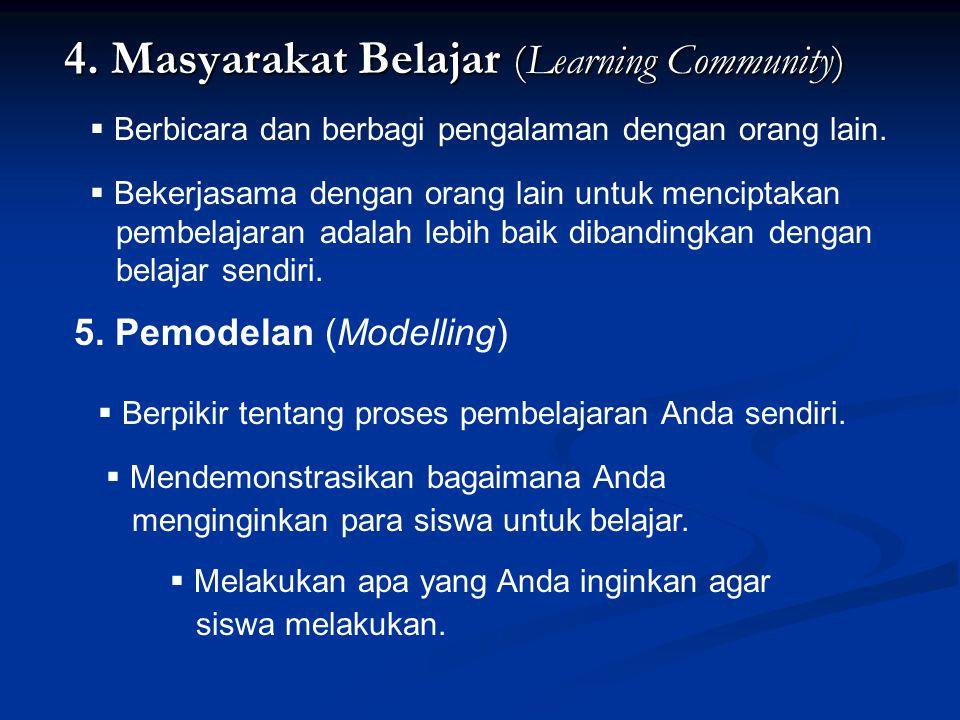 4.Masyarakat Belajar (Learning Community) 4.