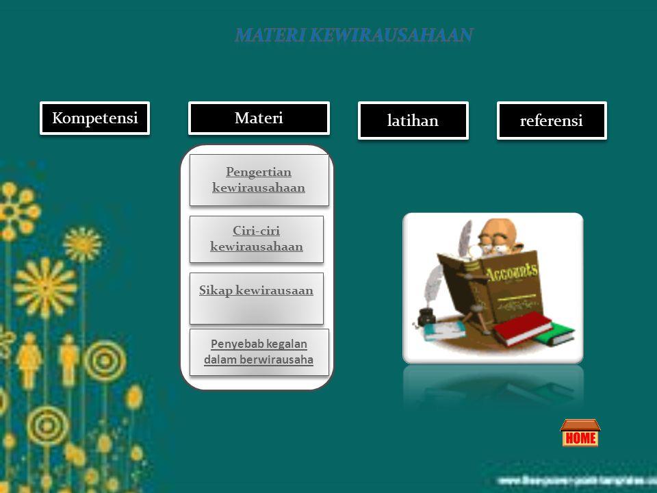 Kompetensi latihan Materi referensi kewirausahaan