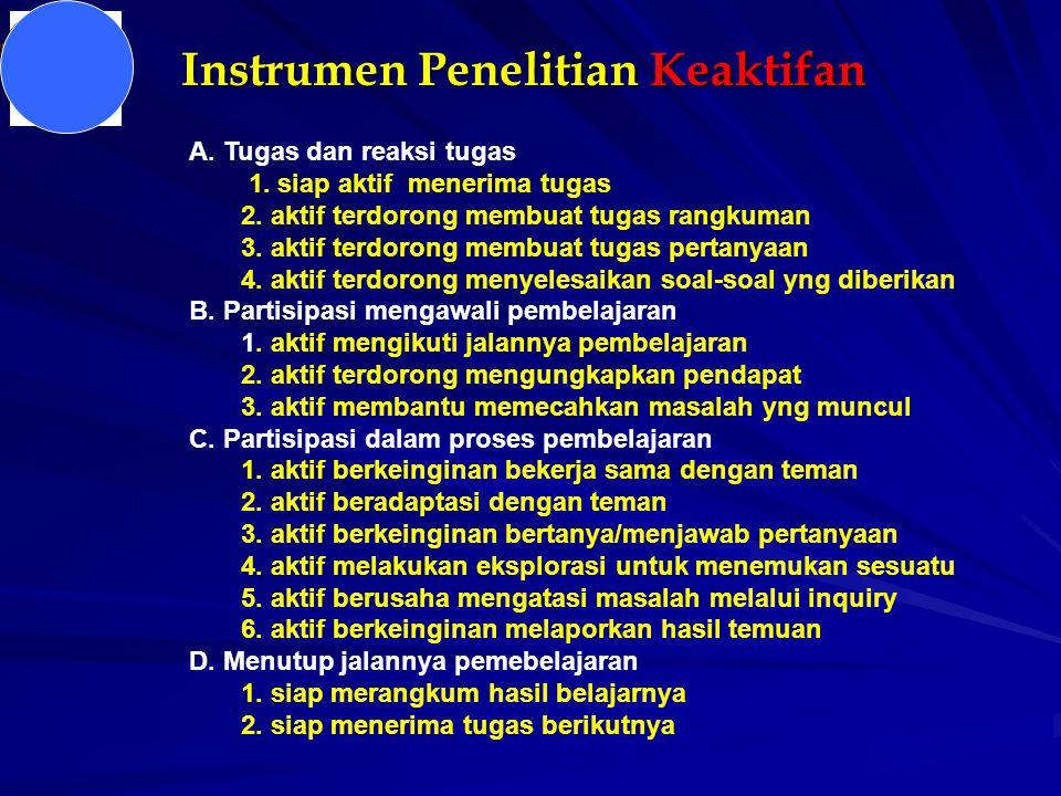 Instrumen Penel Ketramp Proses A.Tugas dan reaksi tugas 1.