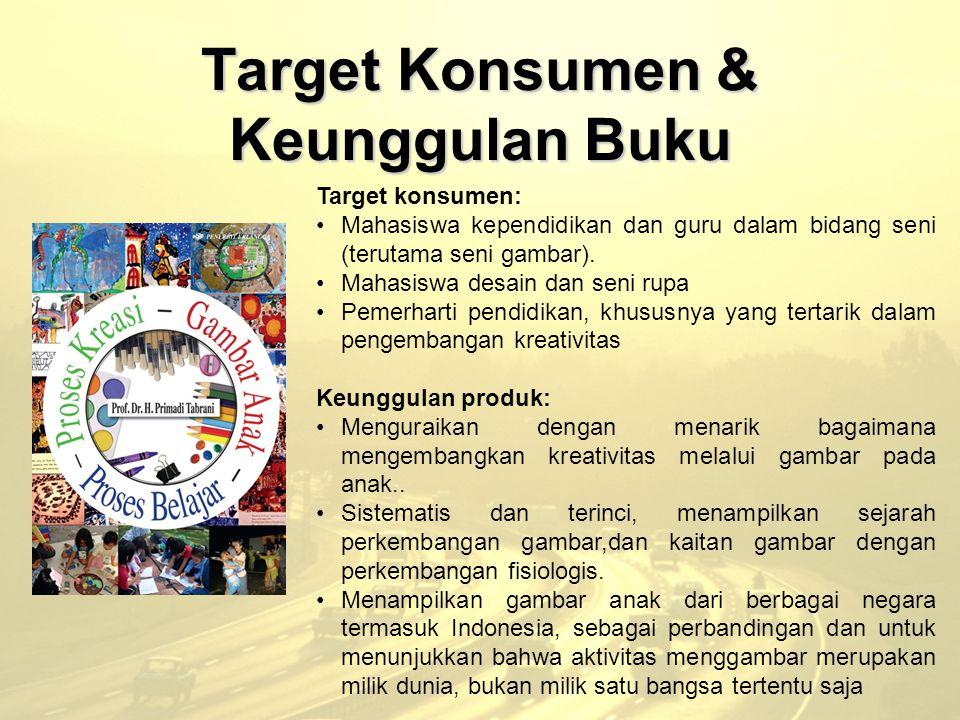 Target Konsumen & Keunggulan Buku Target konsumen: Mahasiswa kependidikan dan guru dalam bidang seni (terutama seni gambar). Mahasiswa desain dan seni
