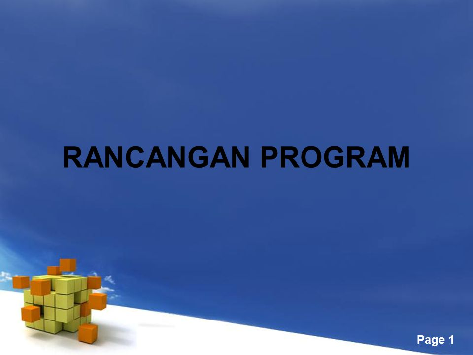 Free Powerpoint Templates Page 1 RANCANGAN PROGRAM