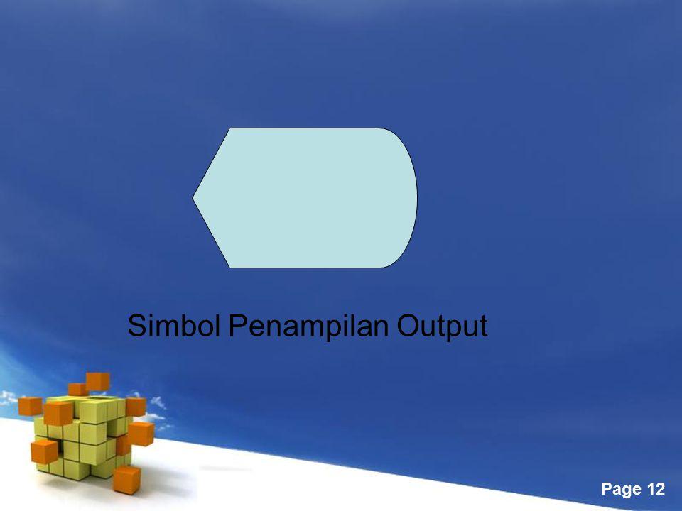 Free Powerpoint Templates Page 12 Simbol Penampilan Output