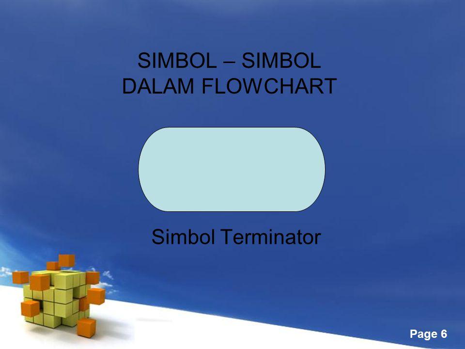 Free Powerpoint Templates Page 6 SIMBOL – SIMBOL DALAM FLOWCHART Simbol Terminator
