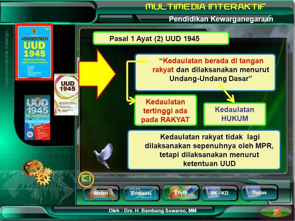 MateriEvaluasi Profil SK - KD Oleh : Drs. H. Bambang Suwarso, MM Pendidikan Kewarganegaraan Tugas ….. disusunlah Kemerdekaan Kebangsaan Indonesia itu