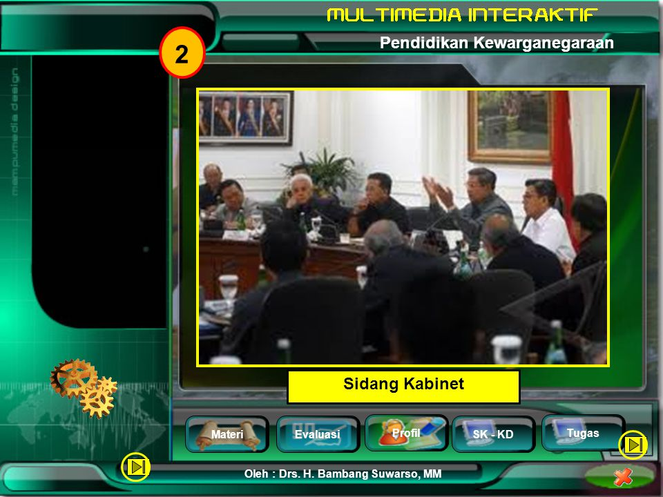 MateriEvaluasi Profil SK - KD Oleh : Drs. H. Bambang Suwarso, MM Pendidikan Kewarganegaraan Tugas 2