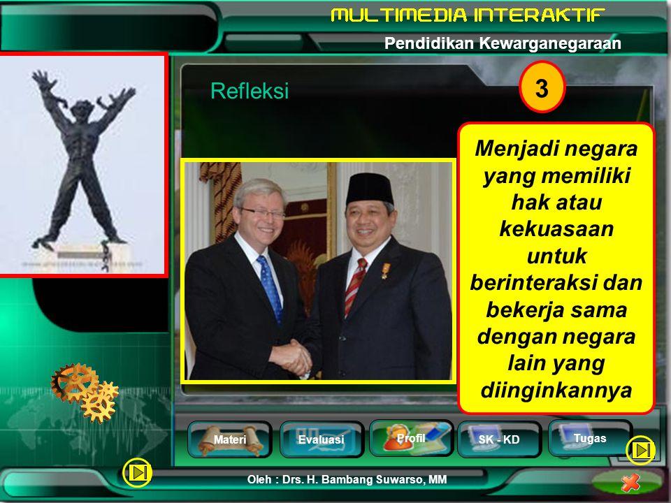 MateriEvaluasi Profil SK - KD Oleh : Drs. H. Bambang Suwarso, MM Pendidikan Kewarganegaraan Tugas 2 Sidang Kabinet