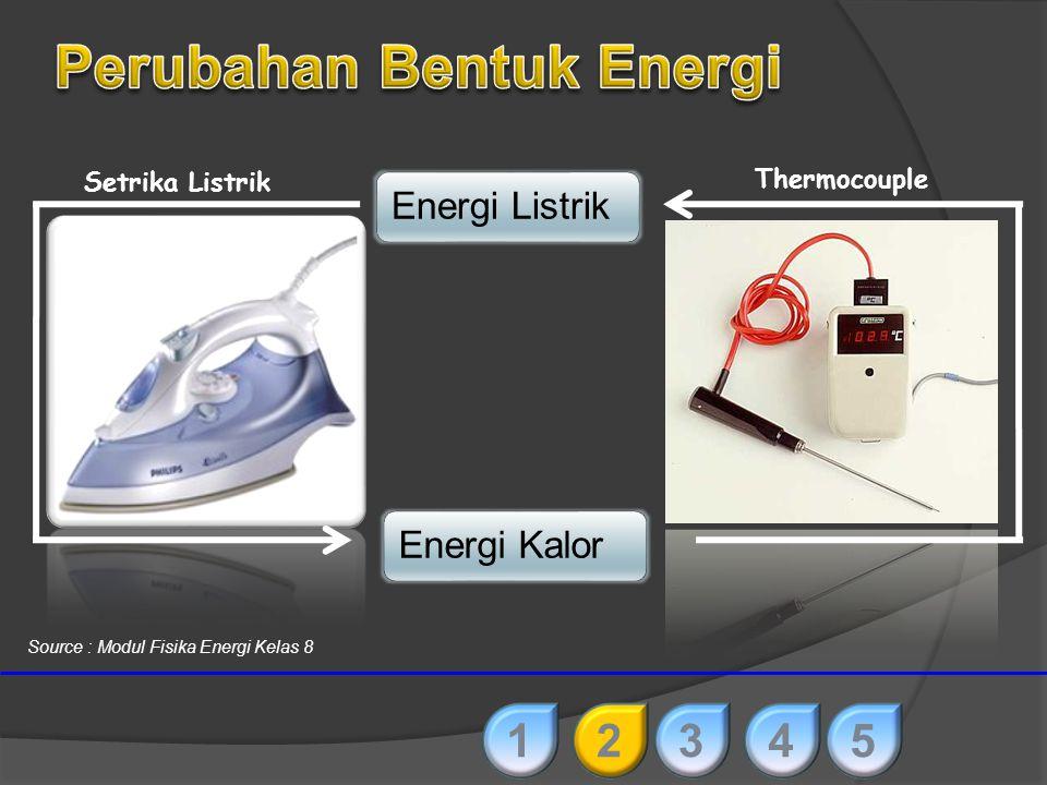 Energi GerakEnergi Listrik DinamoMotor listrik 12345 Source : Modul Fisika Energi Kelas 8