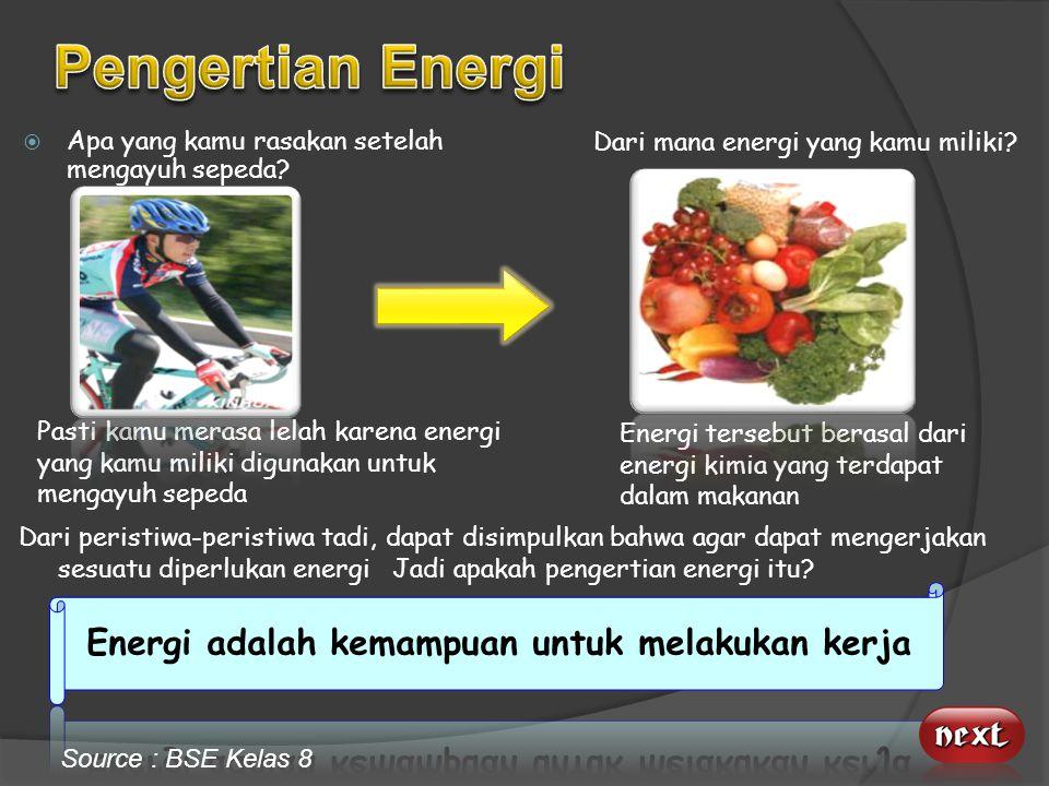 Source : http://stat.k.kidsklik.com/data/lipsus/gempajepang/ Cermati bentuk energi apa saja yang ada pada tayangan ini! Source : Http://www.youtube.co