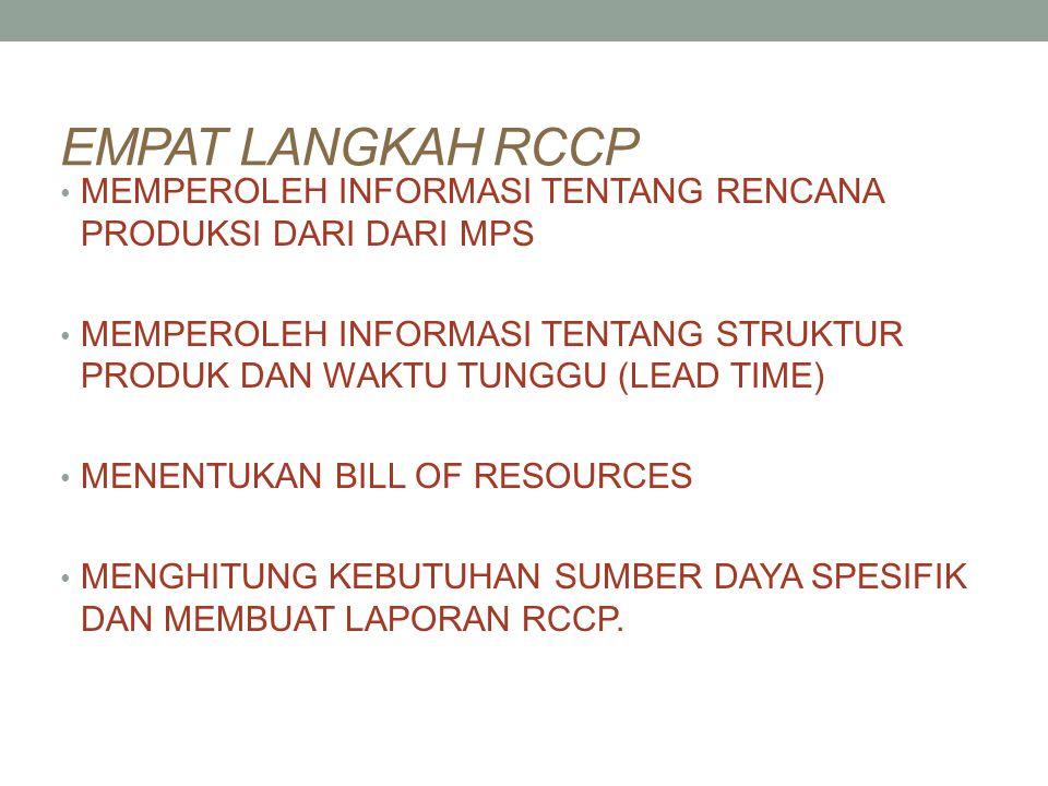 3 TEKNIK DIDALAM RCCP 1.Capacity Planning Using Overall Factors (CPOF) 2.